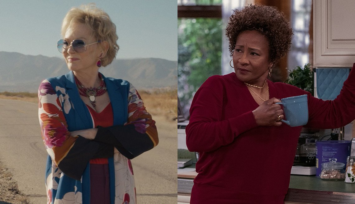 "Jean Smart en ""Hacks"" y Wanda Sykes en ""The Upshaws""."