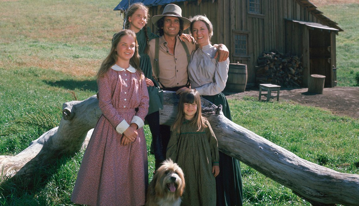 The cast of Little House on the Prairie