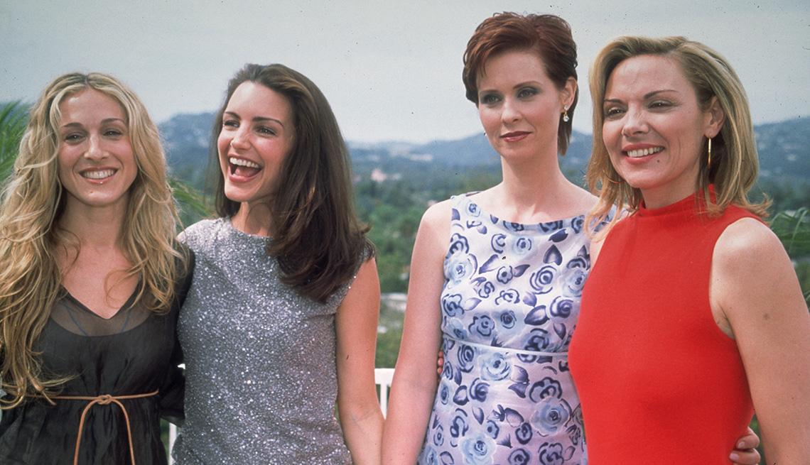"Sarah Jessica Parker, Kristin Davis, Cynthia Nixon y  Kim Cattrall en ""Sex and the City""."
