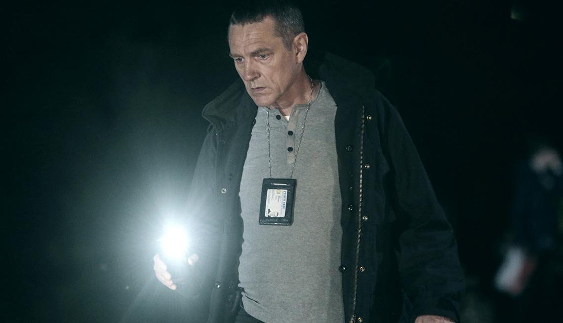 """Ville Virtanen como Kari Sorjonen en """"Bordertown""""."""
