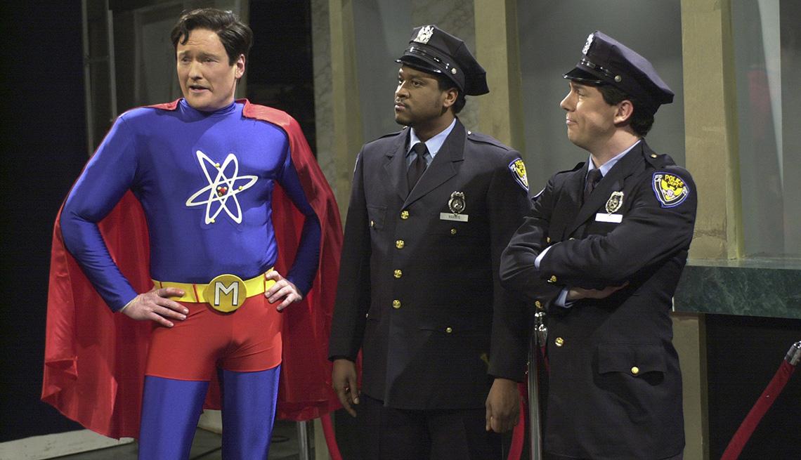 Conan O'Brien, Jerry Minor and Chris Parnell in Saturday Night Live's Moleculo skit