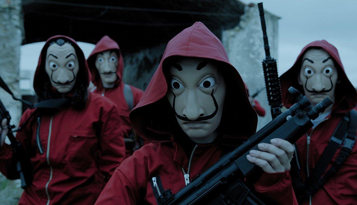 A scene from Season 1 of the Netflix series Money Heist