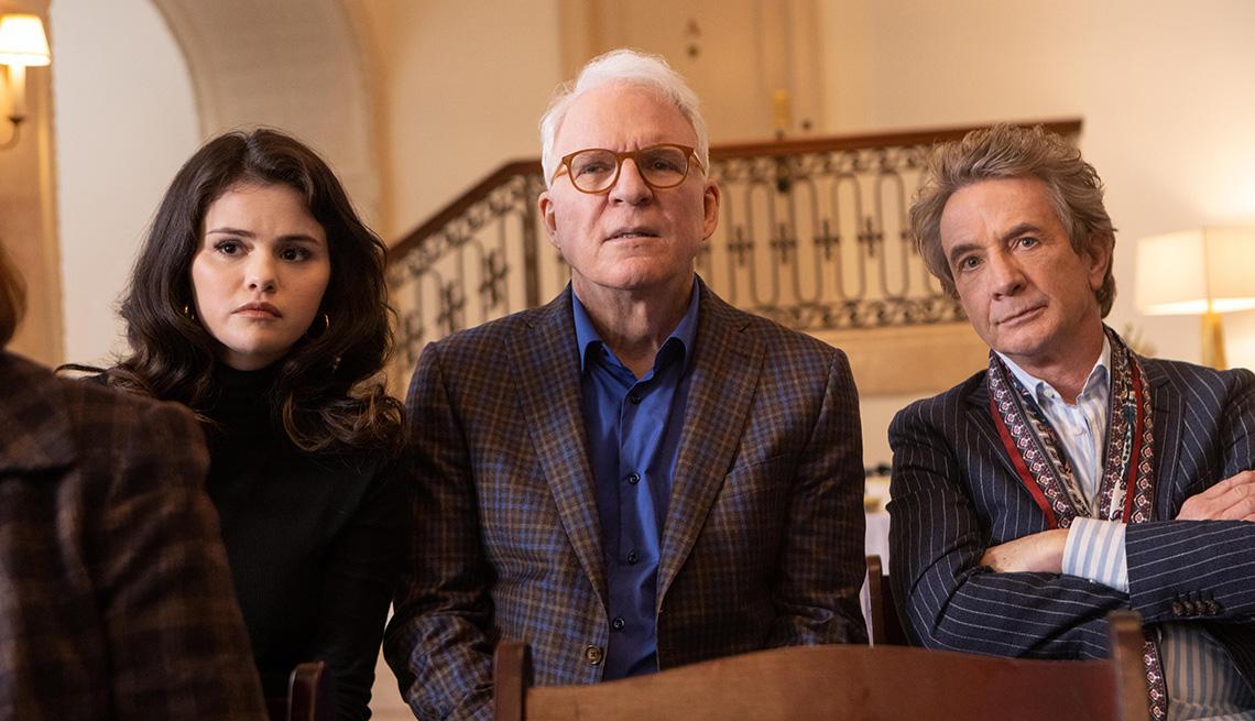 Selena Gomez, Steve Martin y Martin Short en 'Only Murders in the Building'.