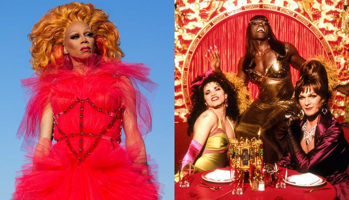 RuPaul stars in the Netflix series AJ and the Queen and John Leguizamo, Wesley Snipes and Patrick Swayze star in the film To Wong Foo, Thanks for Everything! Julie Newmar
