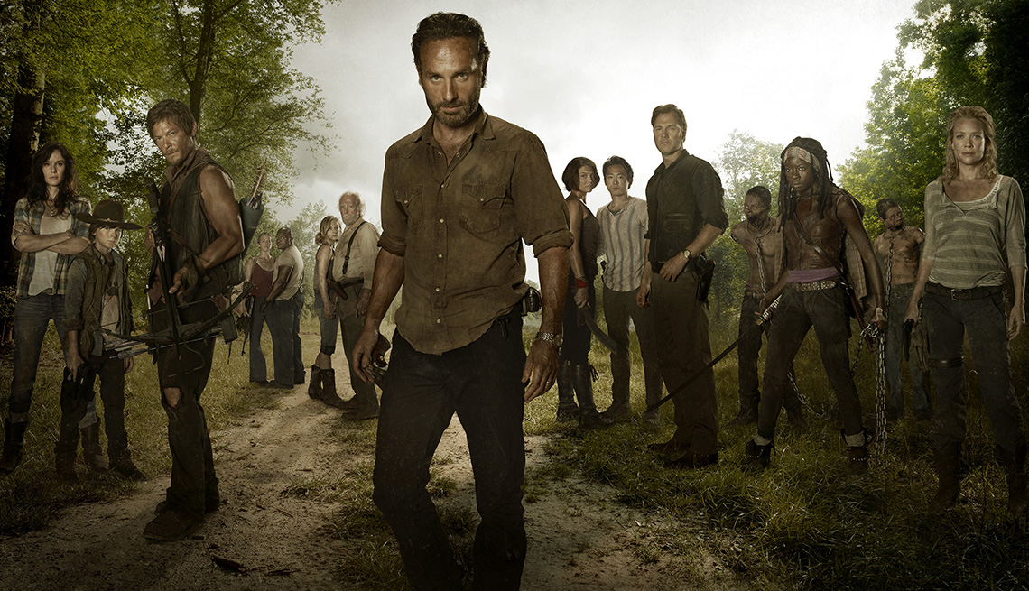 The Season 3 cast of The Walking Dead in a promotional image