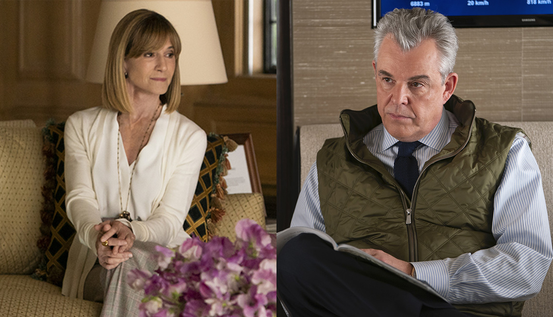 Holly Hunter and Danny Huston in the HBO series Succession