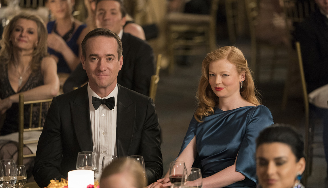 Matthew Macfadyen and Sarah Snook in the HBO series Succession