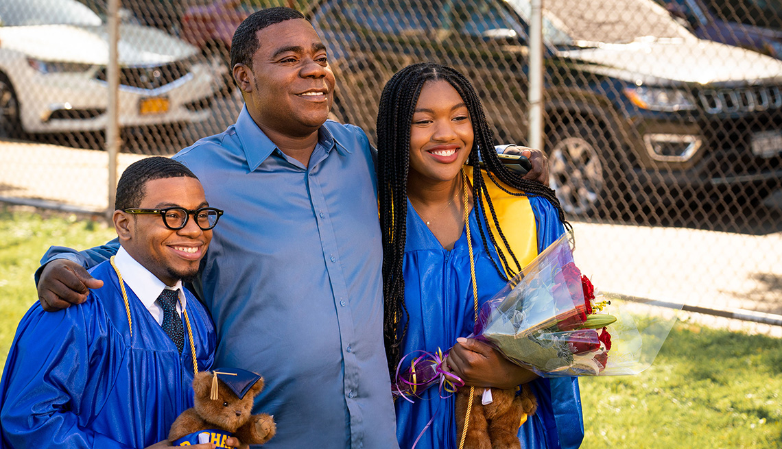Dante Hoagland, Tracy Morgan and Taylor Christian Mosby in a scene from the TBS series The Last OG