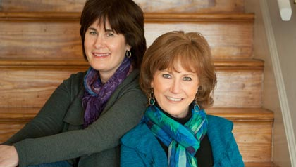 Barbara Kline, left, and Kathy Bernard are 2 BoomerBabes, hosting tongue-in-cheek glimpse into their generation on their radio show each week.  For the radio piece.