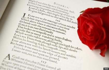 Valentine Day shakespeare love note write prose poem book rose