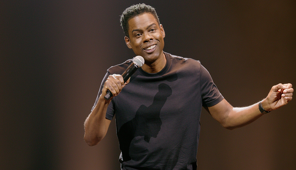 Chris Rock on stage performing