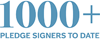1,000 pledge signers to date