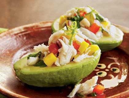 ... pomegranate salad crab avocado pomegranate salad in crisp endive