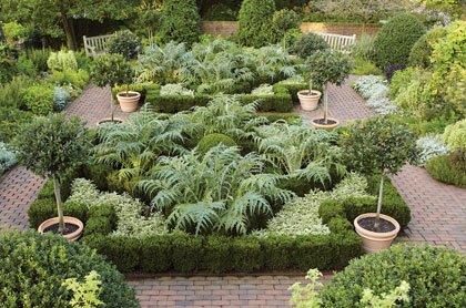 Jardines comestibles en el Jardin Botánico en Nueva York