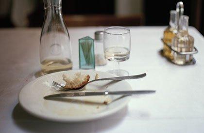 Un plato limpio después de comer