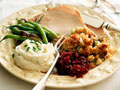Turkey slices with accompaniments for Thanksgiving