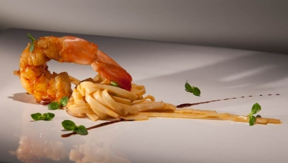 Camarón con fettucine y mantequilla, Receta del Chef Alex Atala