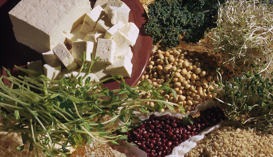 Raw Tofu, Beans, Rice, Kale, Pros And Cons Going Vegan