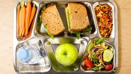 Bandeja con comida - Comer saludable y balanceado
