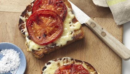 Celebrity Chef, Ming Tsai, grilled cheese, tomatoes, bread, salt, pepper, easy, summer, cook