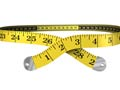 measuring tape in shape of waist