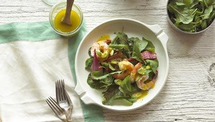 Ensalada de camarones con verduras - Nueva dieta estadounidense de AARP