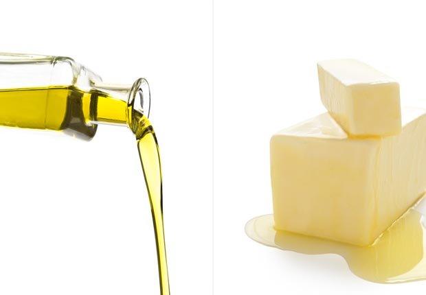 Aceite de oliva y mantequilla