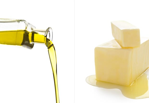 Olive oil and butter