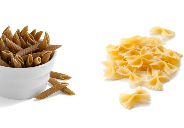 Pasta integral y pasta regular