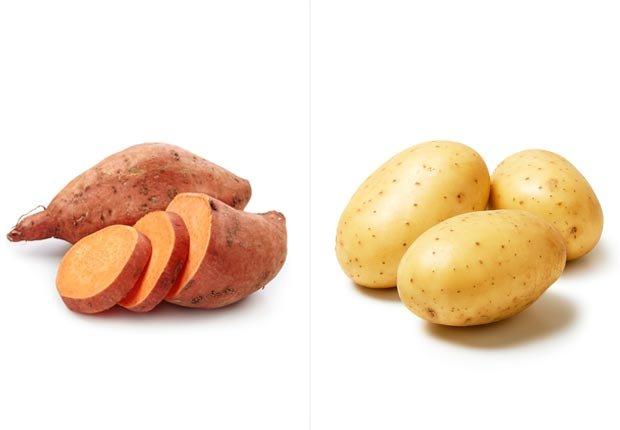 Batata dulce y papas