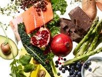 Longevity foods shot on white