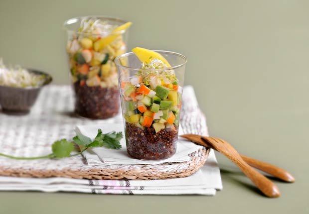 Quinoa, surimi y verduras Verrine - 10 beneficios de salud de la quinoa