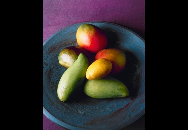 Bowl of mangoes, calorie dense foods