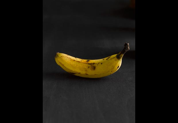 An overripe banana, calorie dense foods