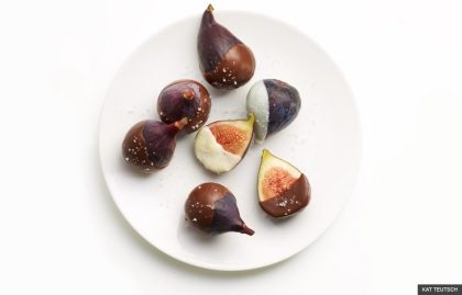 chocolate dipped figs for dessert (KAT TEUTSCH)