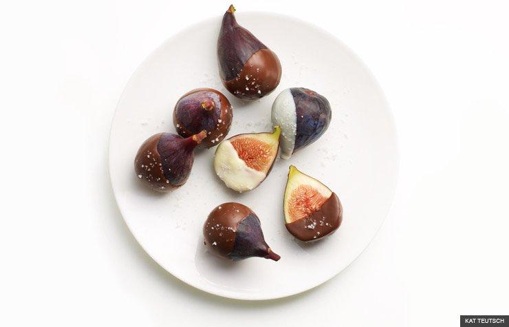 chocolate dipped figs for dessert (KAT TEUTSCH)