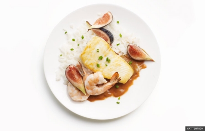 Halibut and figs (KAT TEUTSCH)