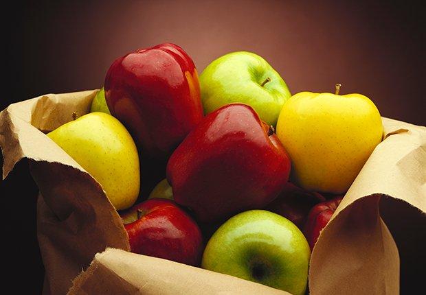 Manzanas de diferentes colores