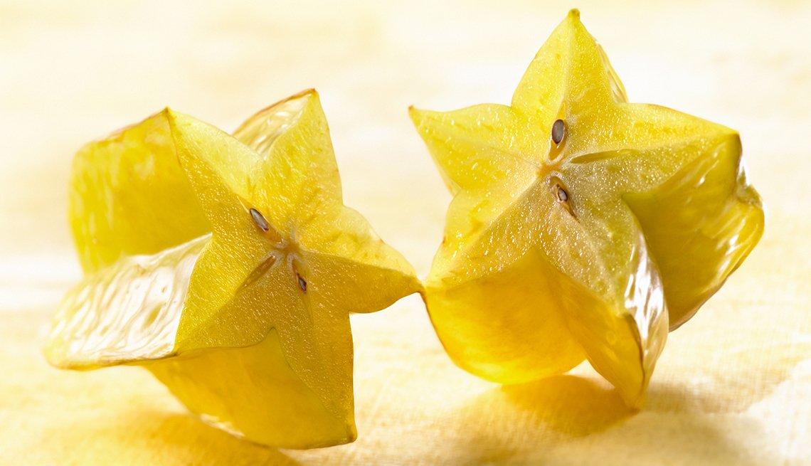 Fruta cortada en forma de estrella