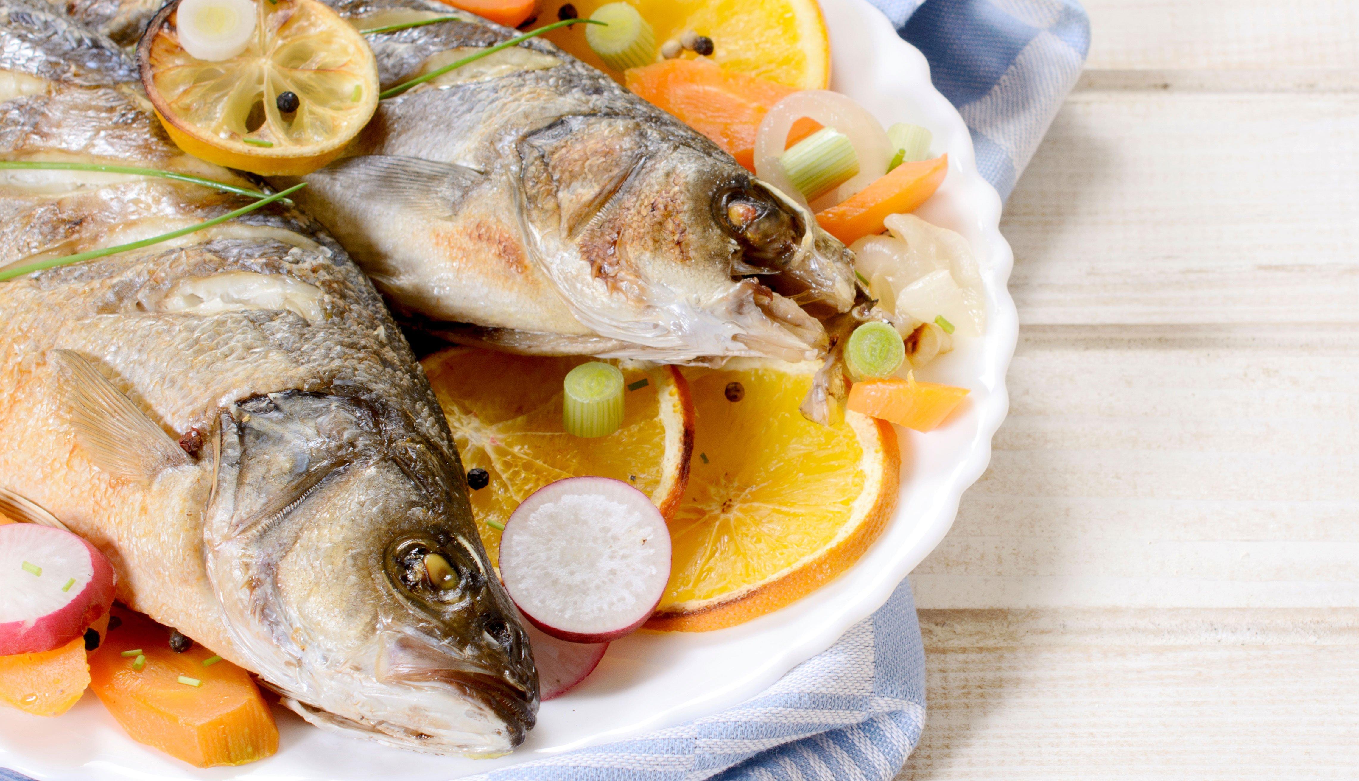 Pescaco en un plato