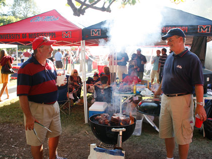 Tailgating party held at