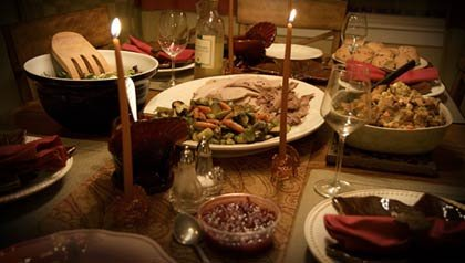 Healthy Thanksgiving table setting