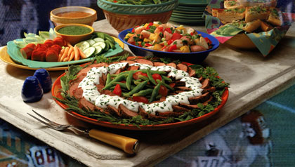 Superbowl party platter and buffet