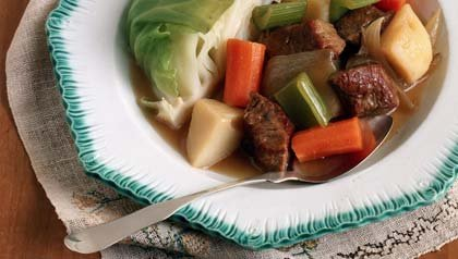 St. Patrick's day menu: the classic corned beef and cabbage