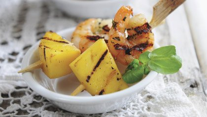 Labor Day End-of-Summer Party Menu: Shrimp and Pineapple Skewers Recipe