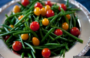 Close up of green beans and tomatoes, Cookstr recipes for picnic sides (Ray Kachatorian/Blend Images/C)