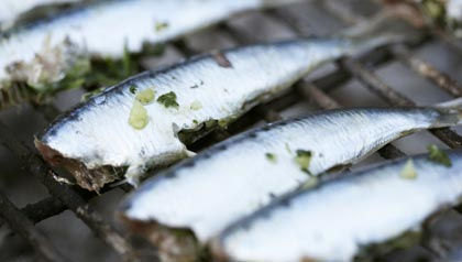 Grilled sardines on grill rack, 4th of July: Foods you didn't know you could grill (Foodcollection/Getty Images)