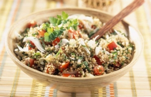 Taboule-style quinoa salad, Healthy summer potluck picnic dishes for Labor Day on Cookstr