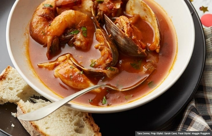 Nor Cal Cioppino, Guy Fieri Recipes for New Year's Eve (Tara Donne; Prop Stylist: Sarah Cave; Food Stylist: Maggie Ruggiero)