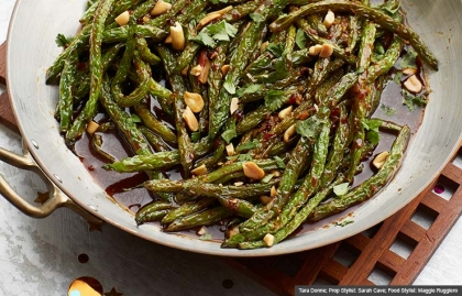 Szechuan Green Beans, Guy Fieri Recipes for New Year's Eve (Tara Donne; Prop Stylist: Sarah Cave; Food Stylist: Maggie Ruggiero)